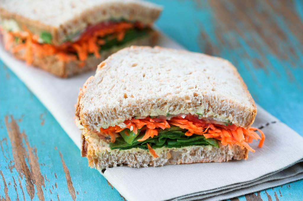 Carrot and Cumin Salad Sandwich